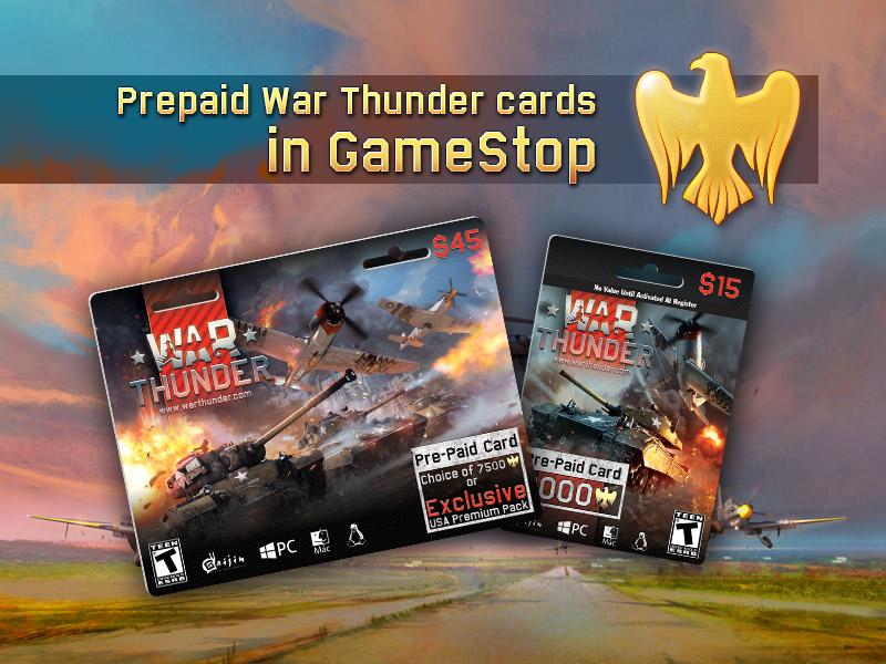 prepaid war thunder cards in gamestop usa - Prepaid Card Usa
