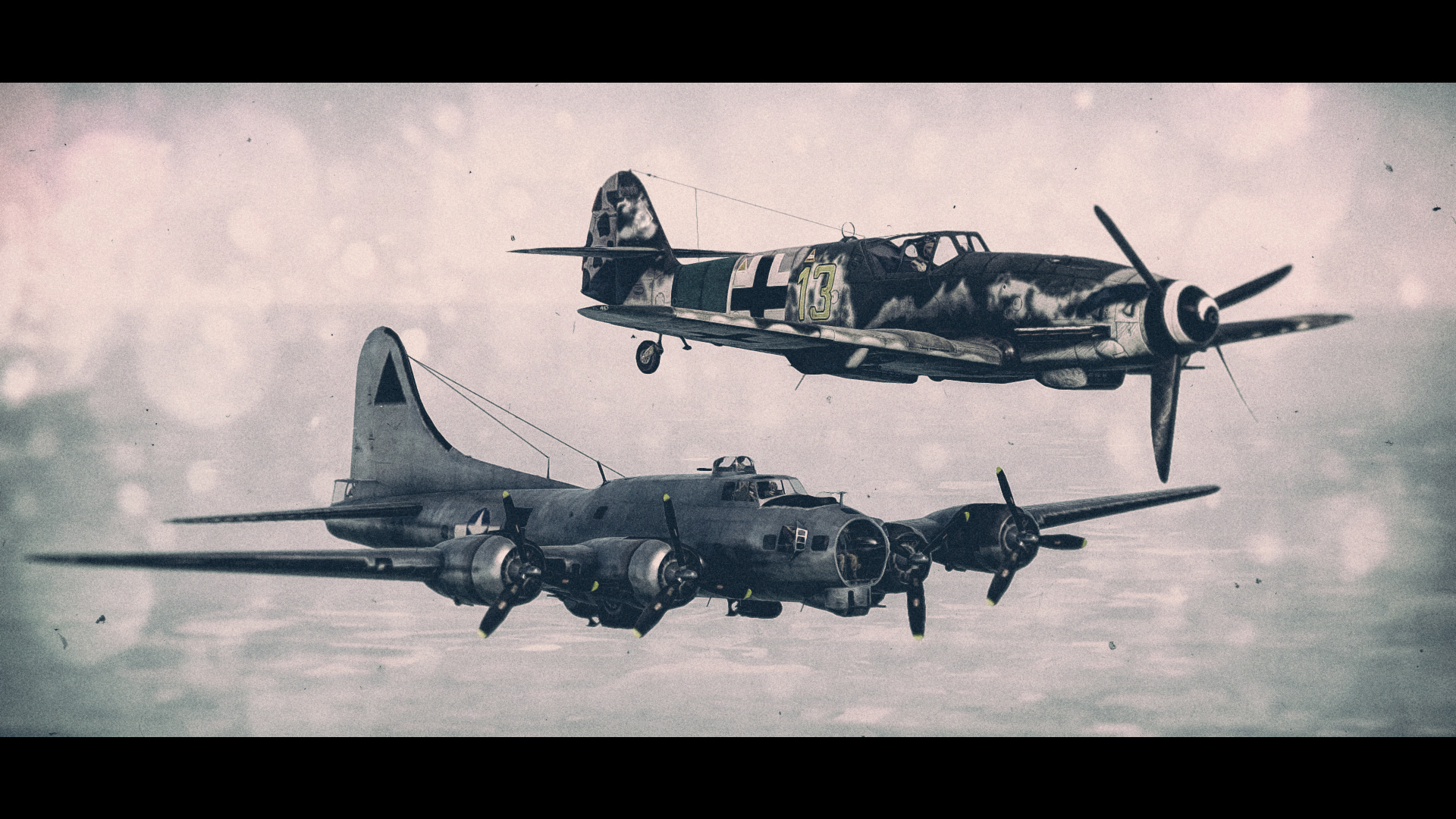 Обои german airplane, ww2, painting.aviation, Fw 190 d-9, bomber hunter, war. Авиация foto 15