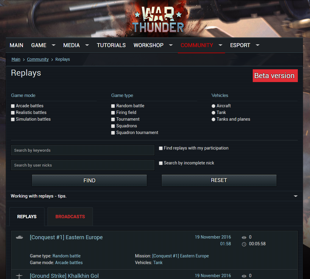 gamekit war thunder