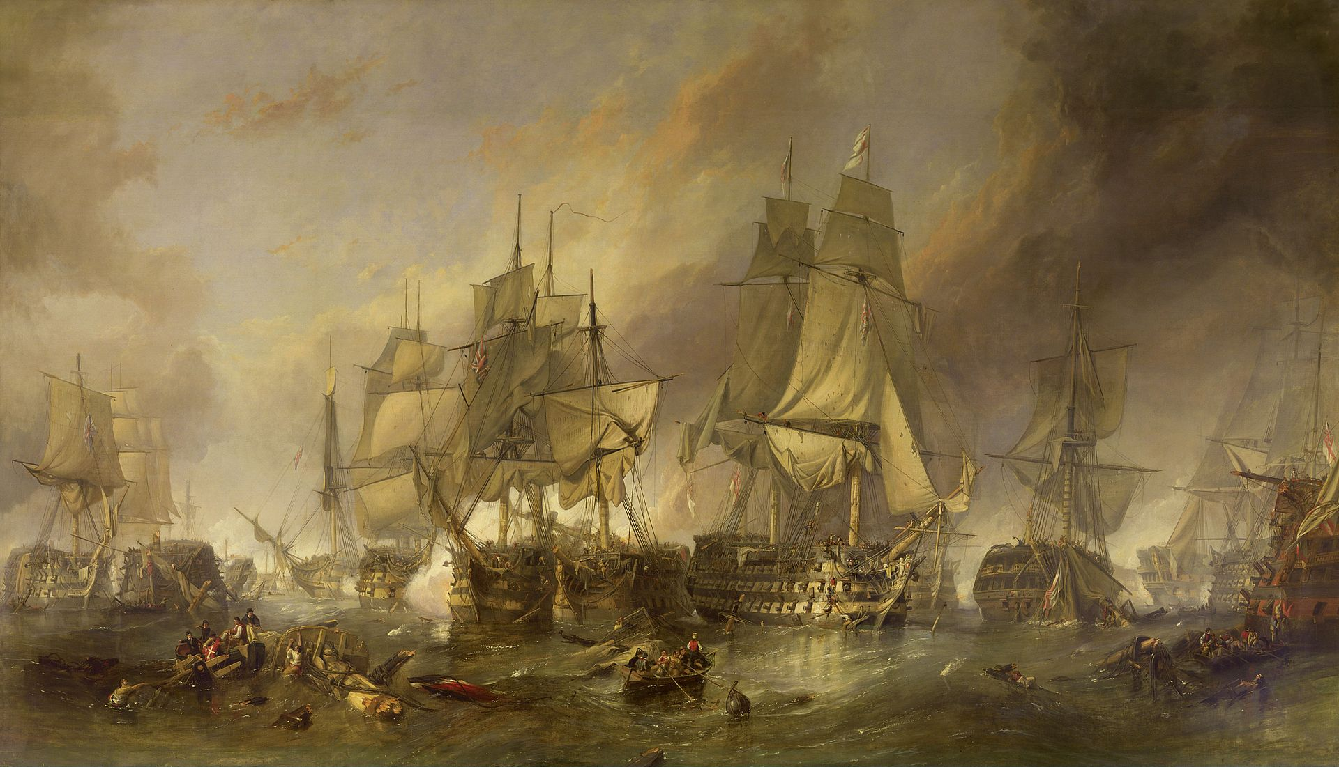 The_Battle_of_Trafalgar_by_William_Clark