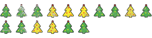 Christmas trees decal