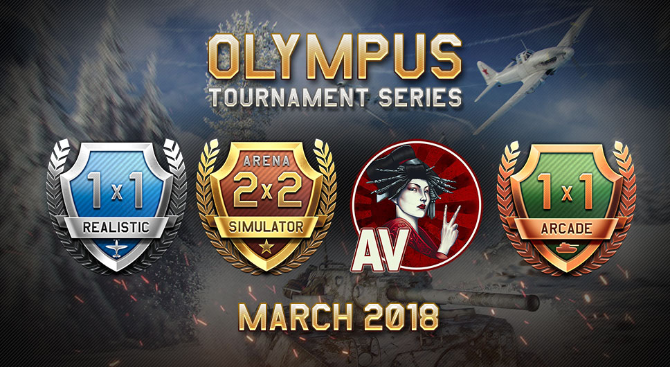 "Pilots and Tankers of War Thunder! We invite you to participate in the new ""Olympus"" series of tournaments available on the TSS portal in March"