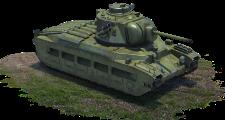 Matilda Mk. II infantry tank with F-96 (USSR)