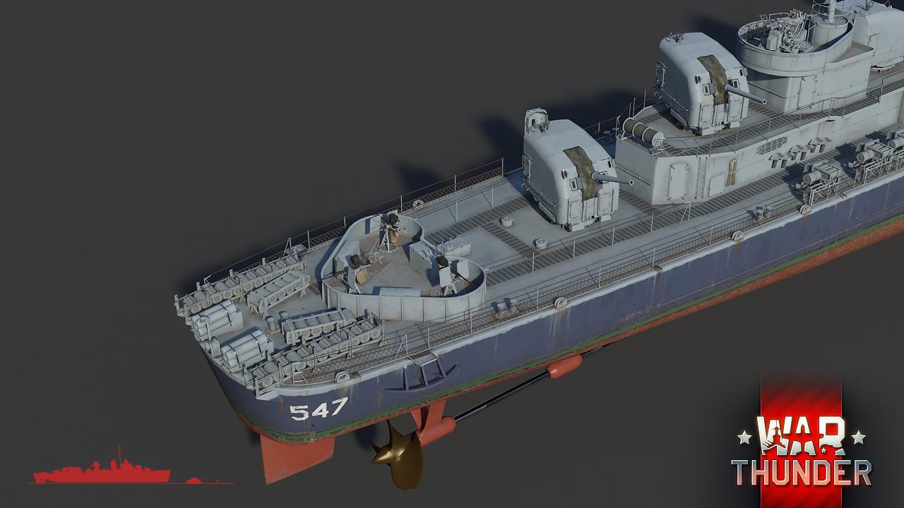 Fleet] USS Cowell (DD-547): Vulture Hunter - News - War Thunder