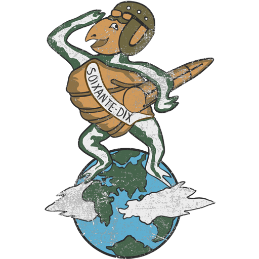 Emblem of the 70th battalion of the 6th Armored Division, USA