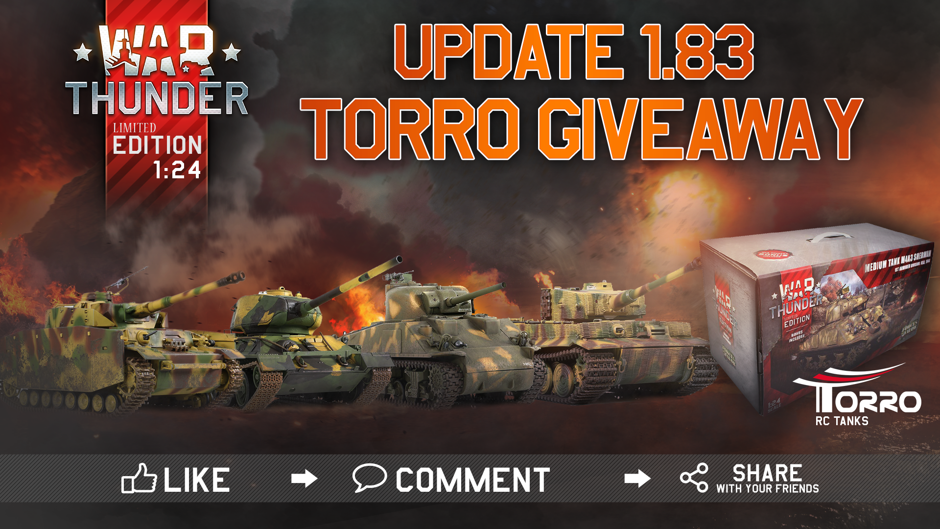 Giveaway] Update 1 83 giveaway: get War Thunder RC tanks - winners
