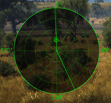 Radar in tracking mode