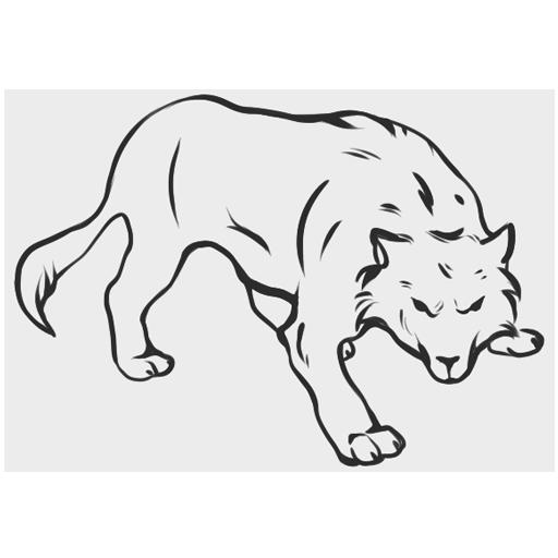 """Wolf"" emblem of 203rd Panzerbataillon, Bundeswehr"