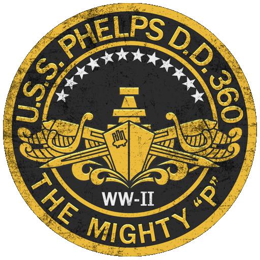 Декаль The Mighty P (эмблема USS Phelps DD-360)