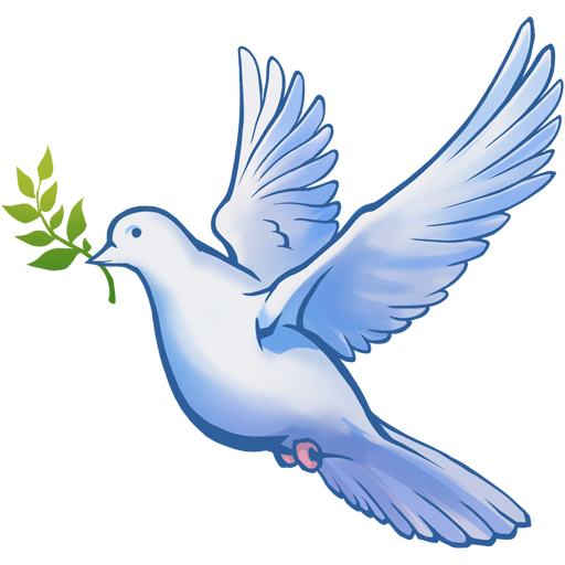 """Dove of peace"" decal"