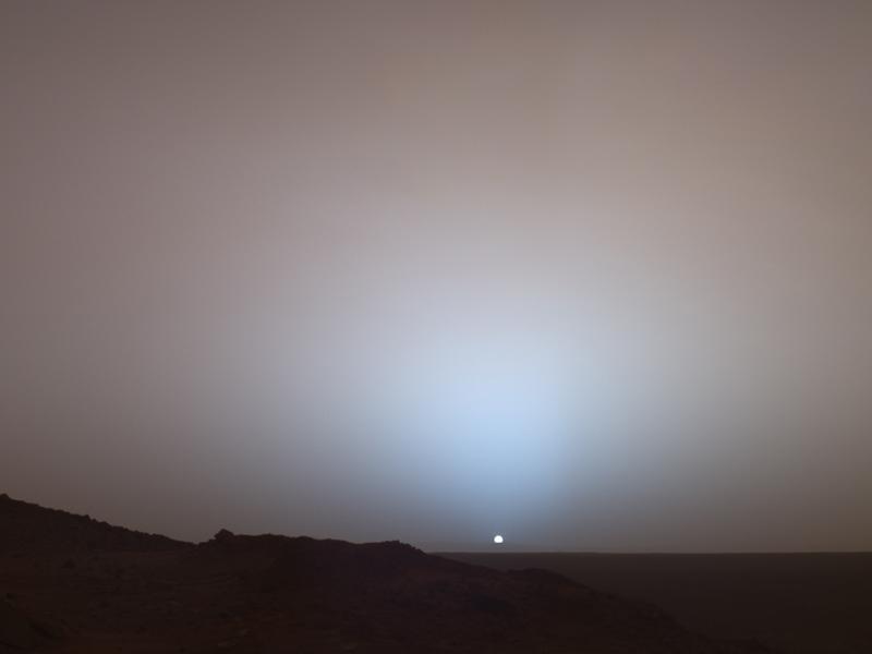 Рассвет на Марсе, фотография NASA