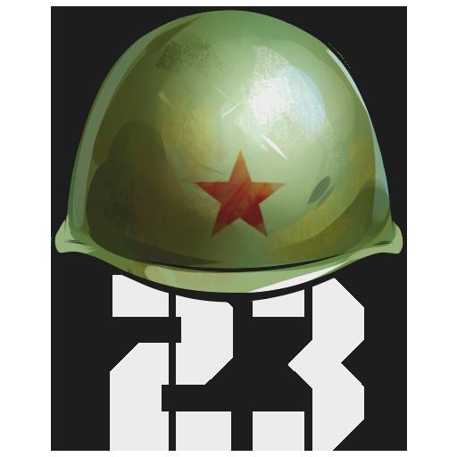 """Helmet 23"" Decal"