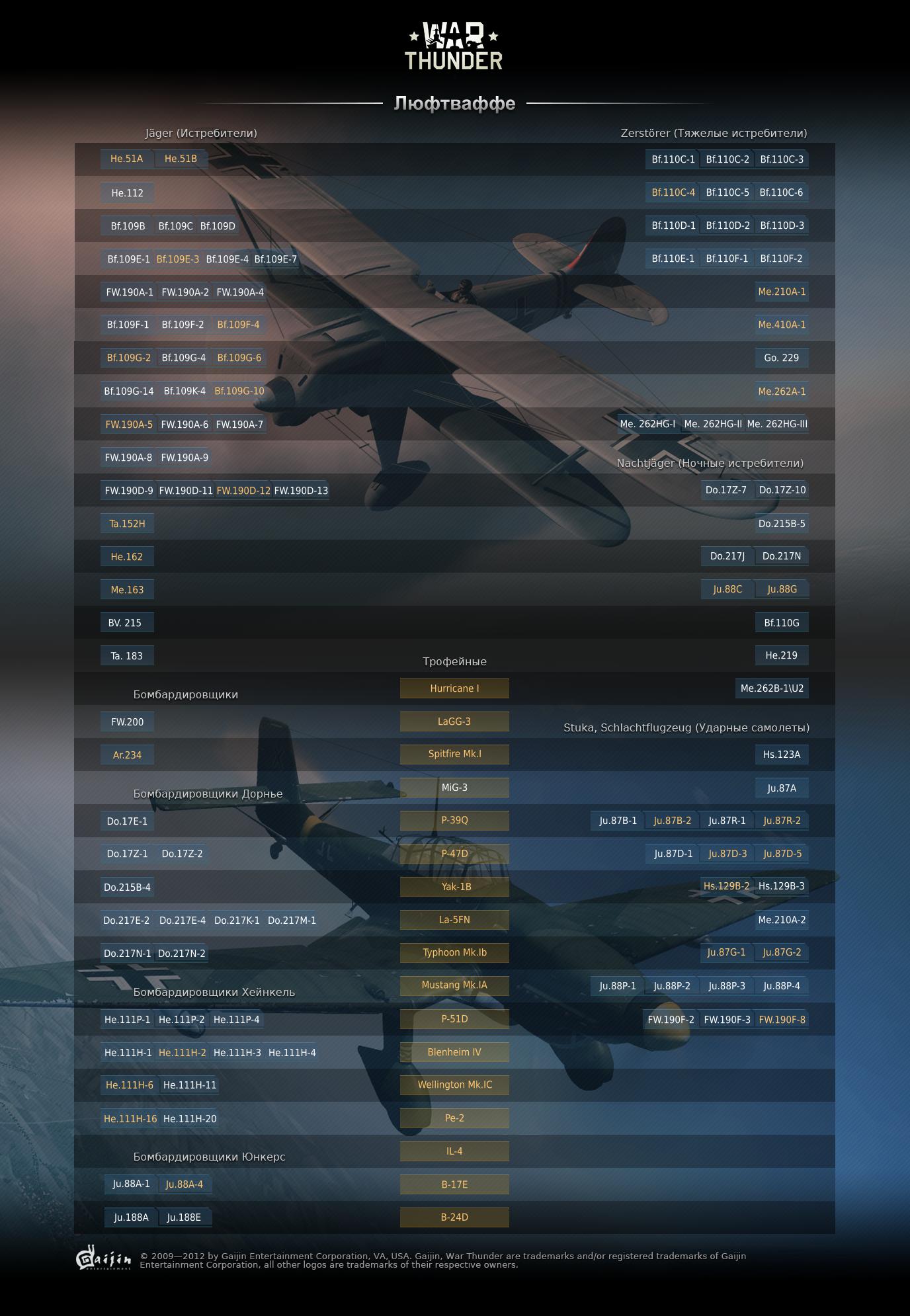 ветка самолетов германии в вар тандер
