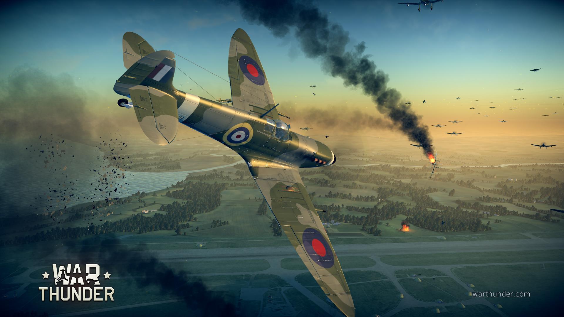 Playstation 4 war thunder gameplay spitfire aircraft paint