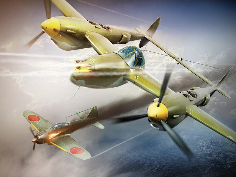P-38 Lightning first flight : Warthunder  P-38 Lightning ...