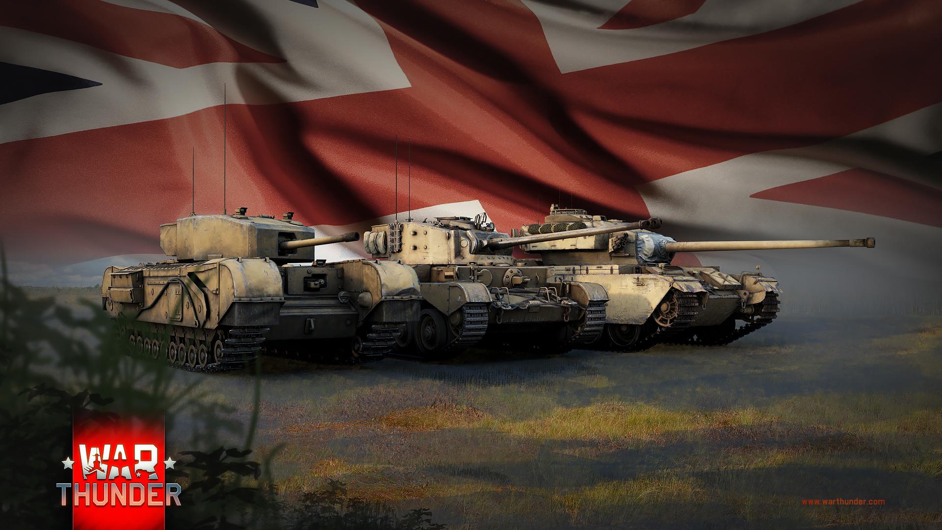 рисунок War Thunder британские танки